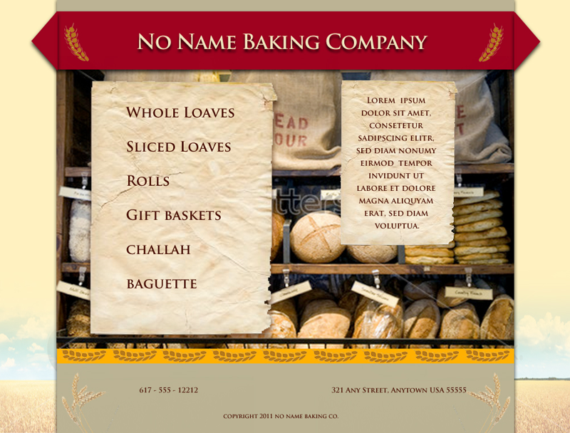 Bakery demo site
